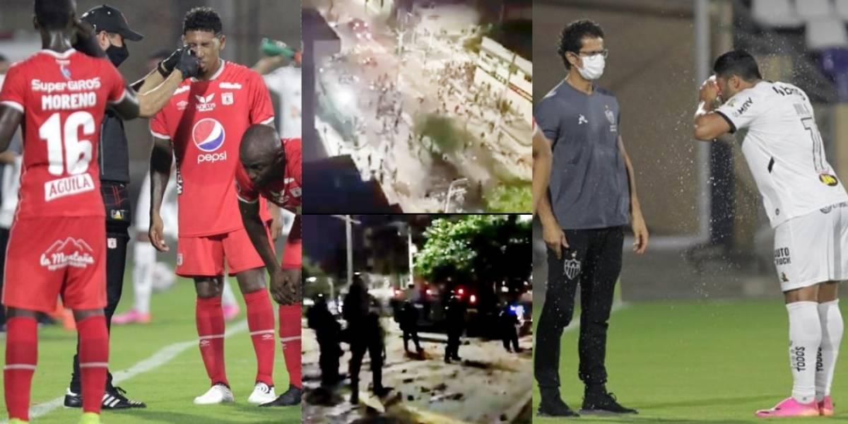 VIDEO de resumen y goles de América VS Atlético Mineiro por Copa  Libertadores 2021, interrupciones por gases en Barranquill (FÚTBL  INTERNACIONAL, Joel graterol, Hulk, Santiago Moreno, Eduardo Vargas)