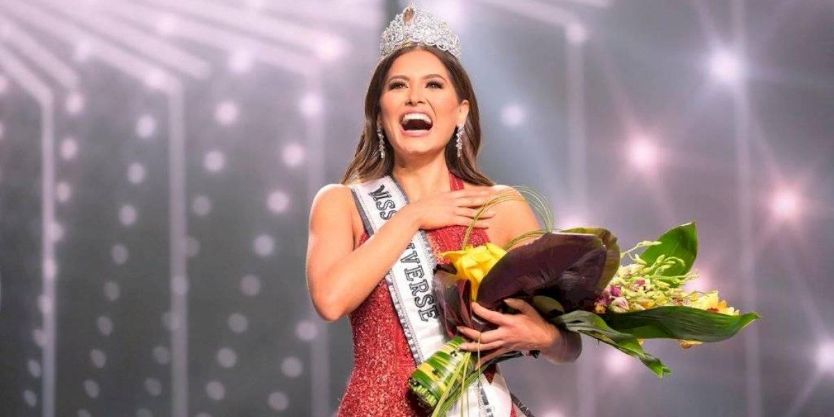 Tremendo error de Lupita Jones al felicitar a Andrea Meza tras ser coronada Miss Universo