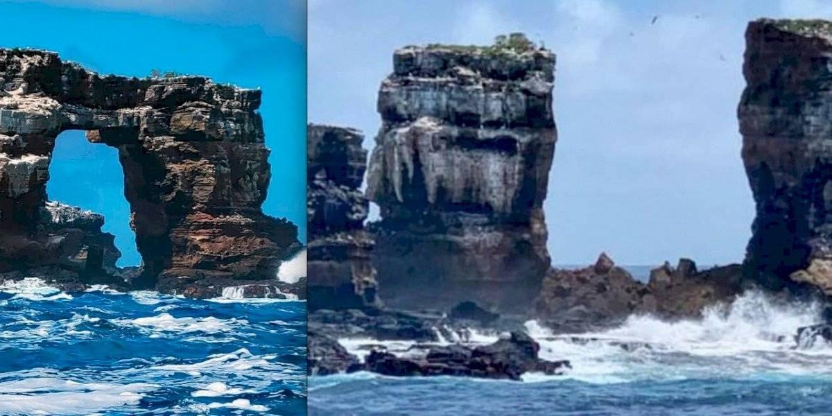 Colapsa parte del emblemático Arco de Darwin en Islas Galápagos