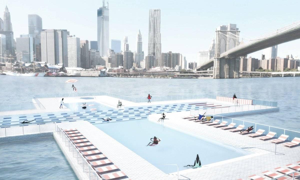 Piscina flotante en Nueva York