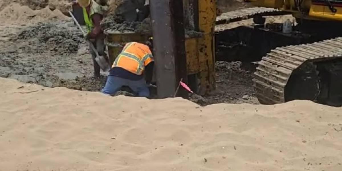 Detienen temporalmente construcción de piscina frente a playa de Rincón