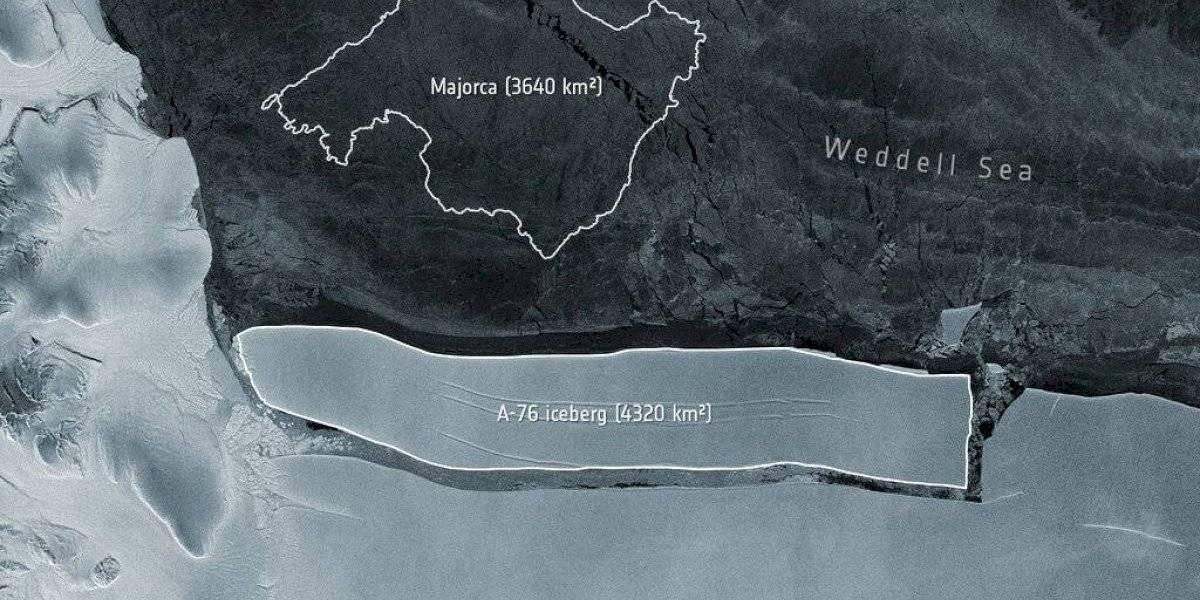 Iceberg separado de la Antártida andará a la deriva por años