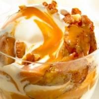 Receta: Helado con Plátano Dulce en Salsa de Coco y Caramelo