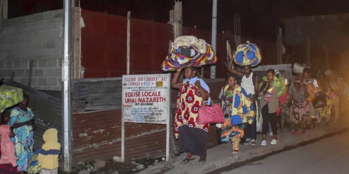 Lava de volcán en el Congo destruye viviendas