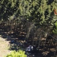Nueve muertos al estrellarse teleférico en Italia