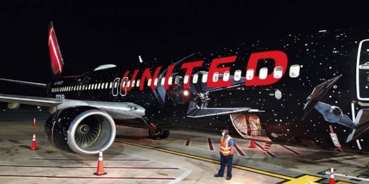Avión de Star Wars aterrizó en aeropuerto de Puerto Rico