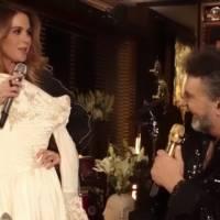 Lucero aún guarda el vestido que usó para su boda con Mijares y lo sorprende en pleno concierto