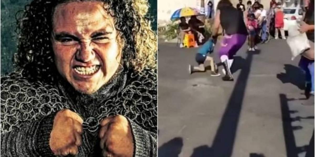 Lucha libre acabó con niño tirado por el aire: menor iba a saludar a su ídolo