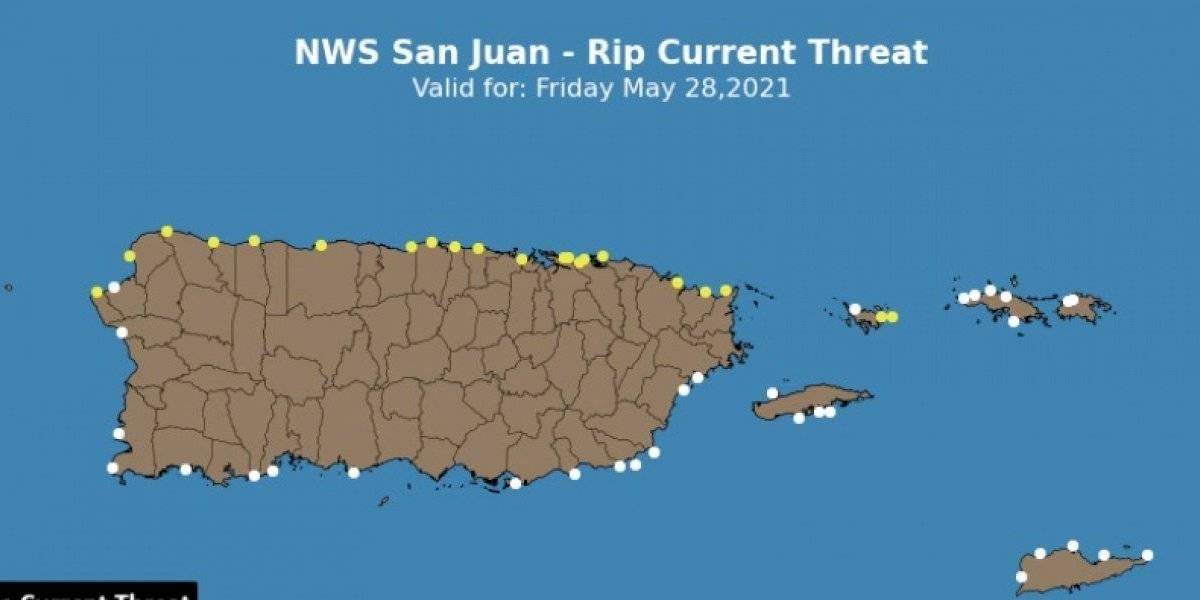 Riesgo moderado de corrientes marinas para playas del norte y Culebra