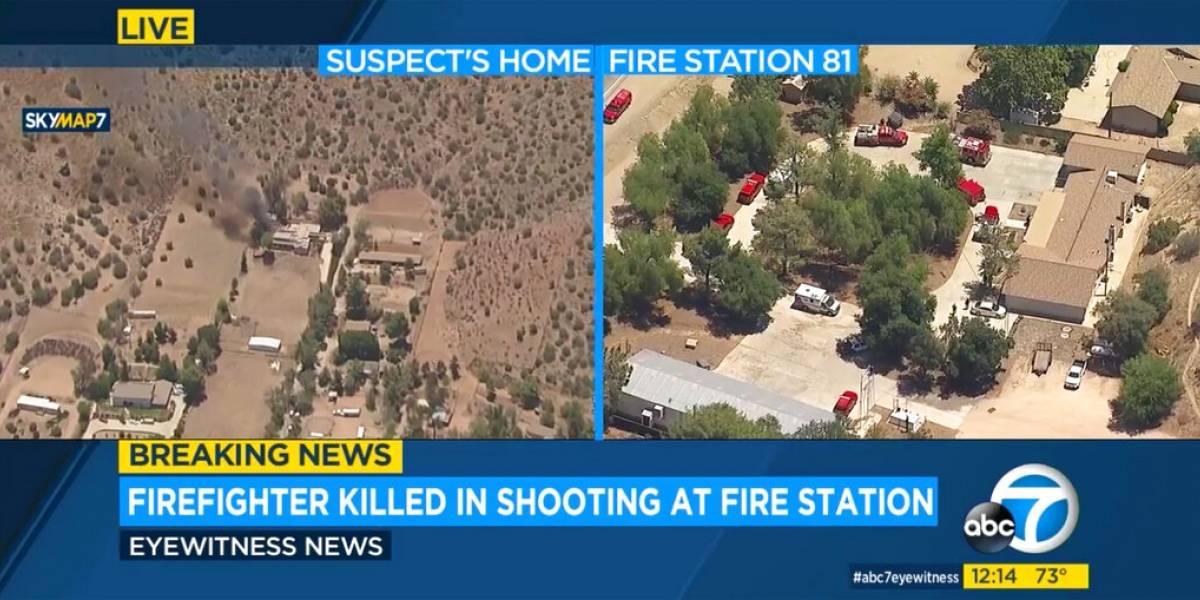 Bombero mata a compañero en estación de Los Ángeles