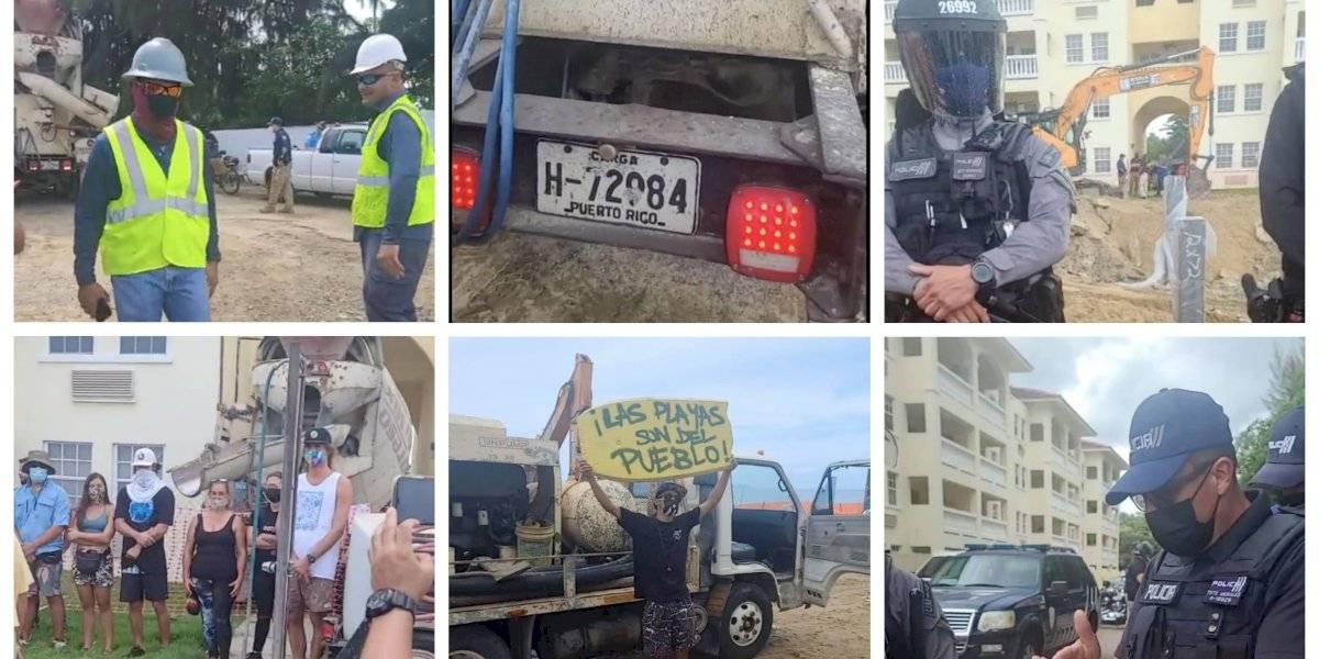 Policía llega a proyecto en Rincón ante protesta ambiental
