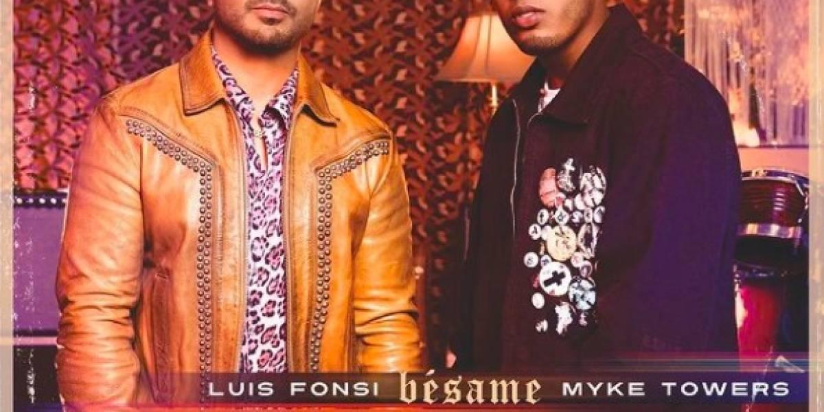 Luis Fonsi y Myke Towers se unen por primera vez con el tema 'Bésame'