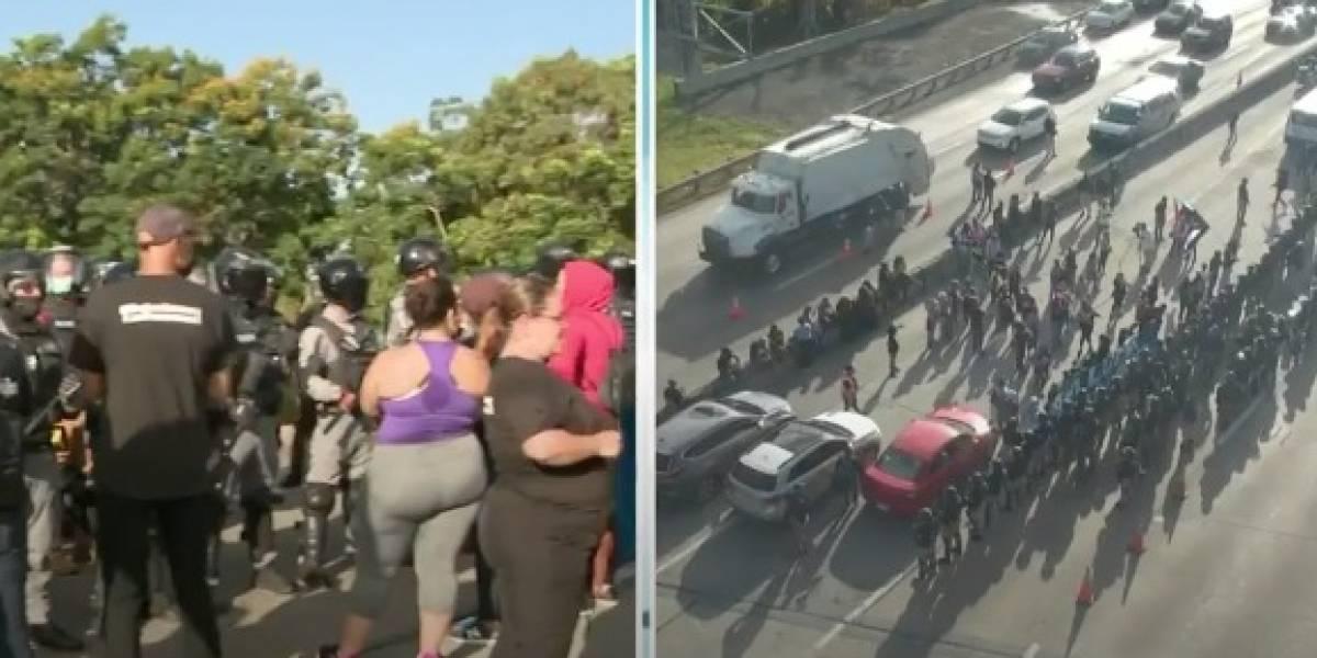 Reabren carriles cerrados tras manifestación contra LUMA en el expreso 22