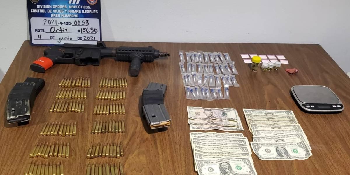Ocupan municiones, sustancias controladas y dinero en efectivo en Naguabo