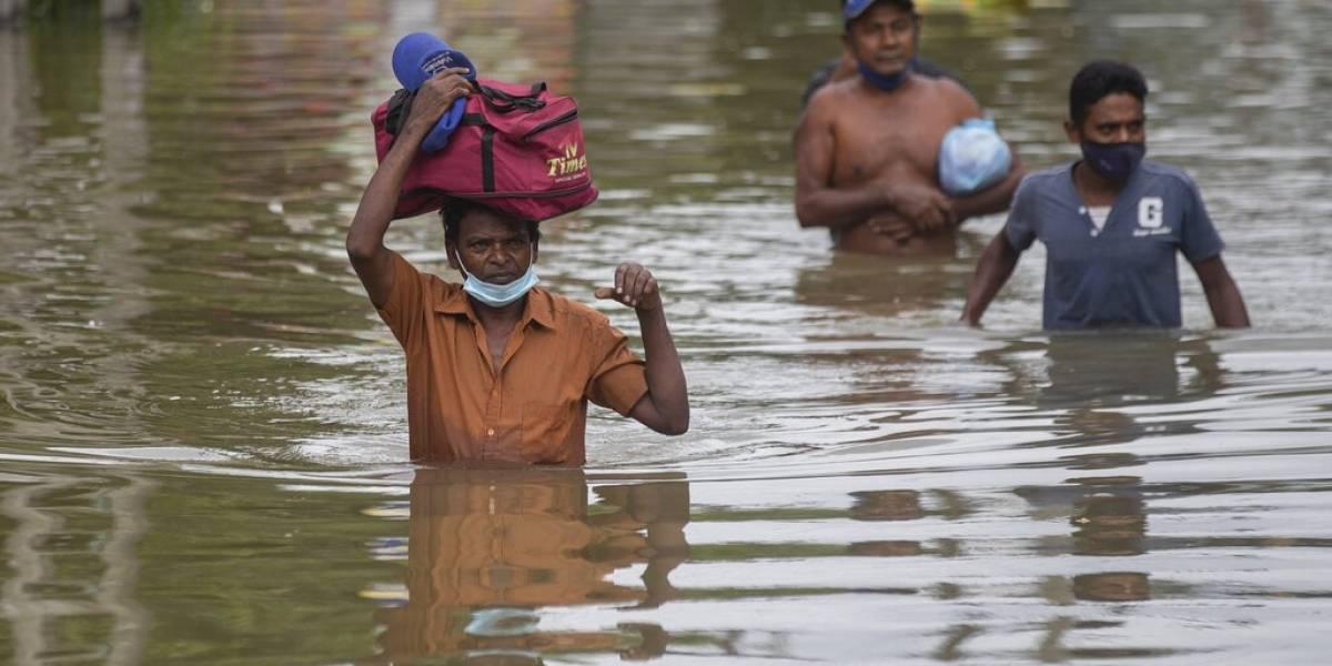 Lluvias dejan 4 muertos y 5,000 desplazados en Sri Lanka