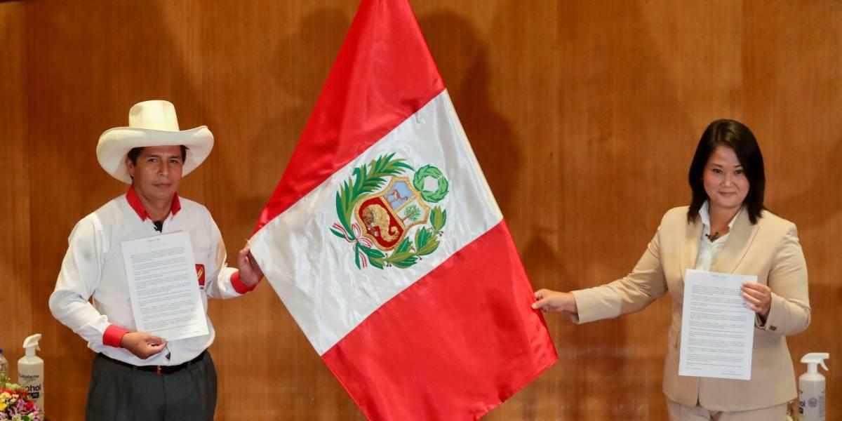Elecciones en Perú: Pedro Castillo supera a Keiko Fujimori por 86 mil votos