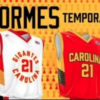 Presentan uniformes de los Gigantes de Carolina