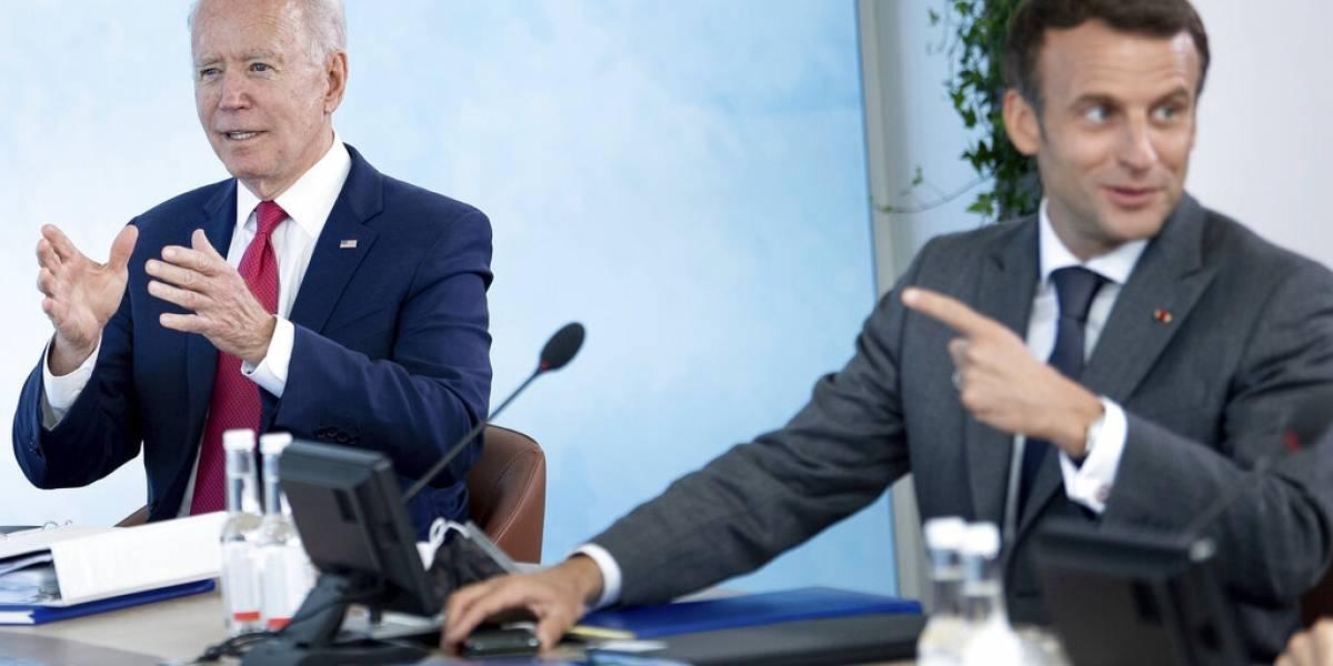 Presidente de Francia dice que Estados Unidos es aliado de Europa otra vez