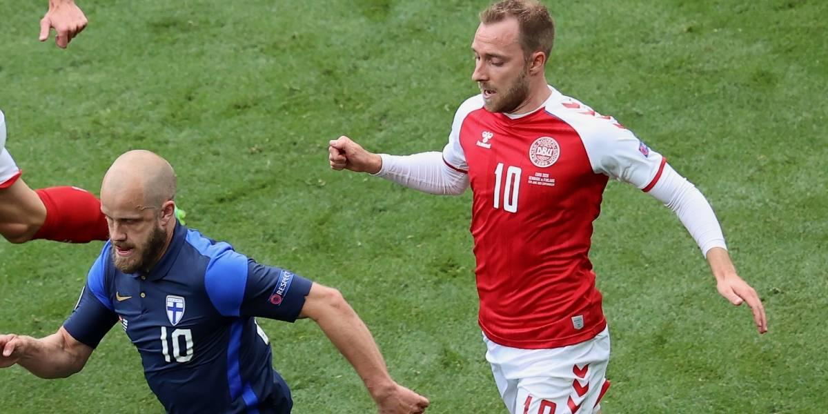 Christian Eriksen, la figura de Dinamarca, se desmaya en pleno partido de la Eurocopa