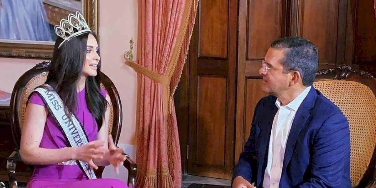 Estefanía Soto visita La Fortaleza tras su participación en Miss Universe