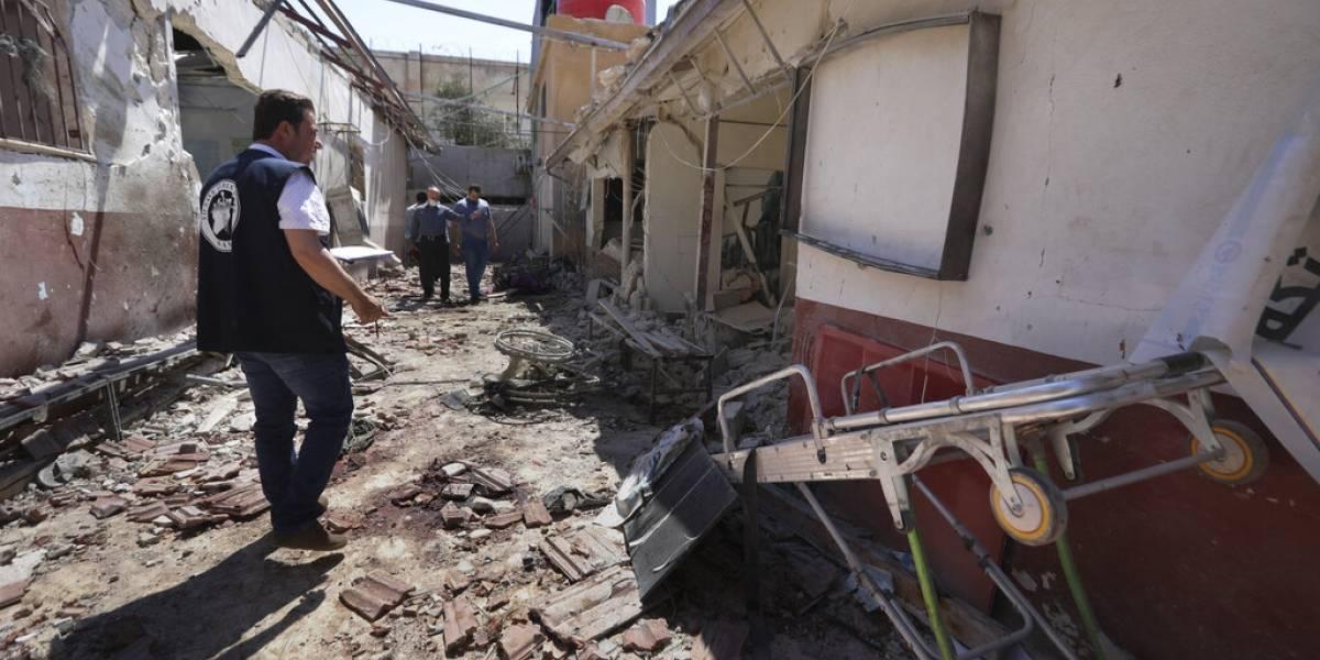 Suben a 15 las muertes por ataque a hospital en Siria