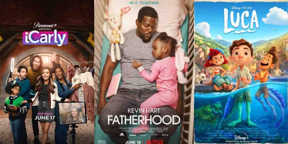 """""""Fatherhood"""", """"iCarly"""" y """"Luca"""" encabezan los estrenos esta semana"""