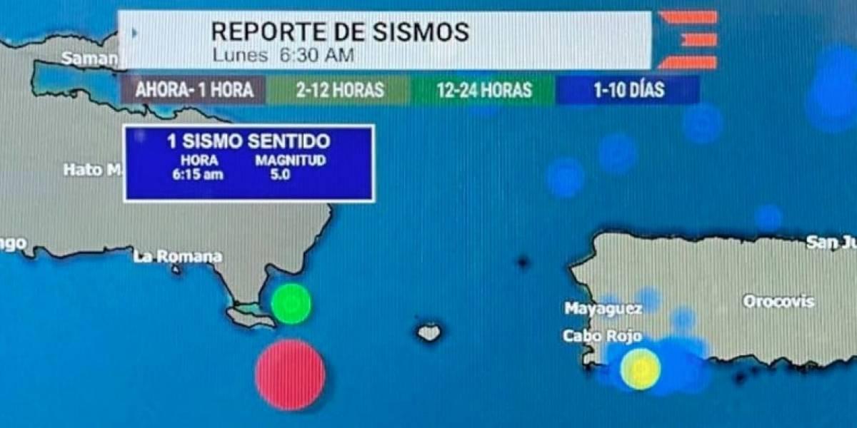 Fuerte sismo al sur de R.D se siente en el oeste de Puerto Rico
