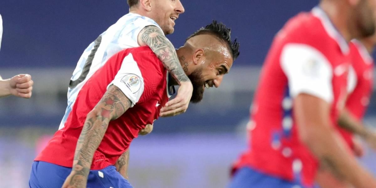 Argentina y Chile: tres tristes empates. En la Copa volvieron a igualar