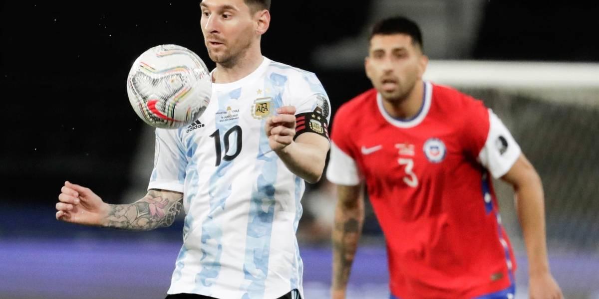 Video| Una 'joya' de Messi le dio el primer gol de la Copa a Argentina