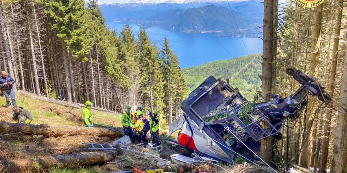 Revelan video de caída del teleférico en Italia en que murieron 14 personas y se salvó un niño