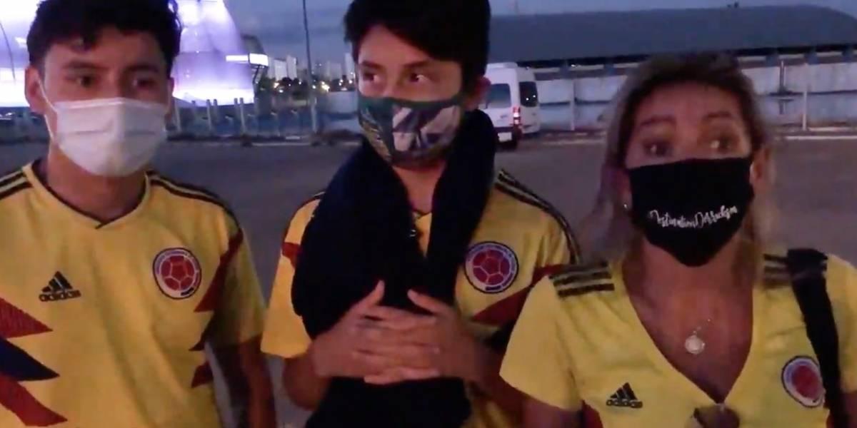 Colombianos viajan a Brasil para ver a su selección, sin saber que no podrían entrar al estadio