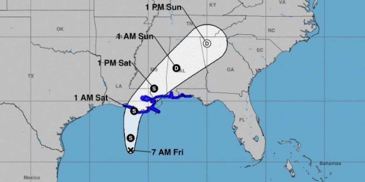 Aviso de tormenta tropical para partes de Luisiana, Mississippi, Alabama y Florida