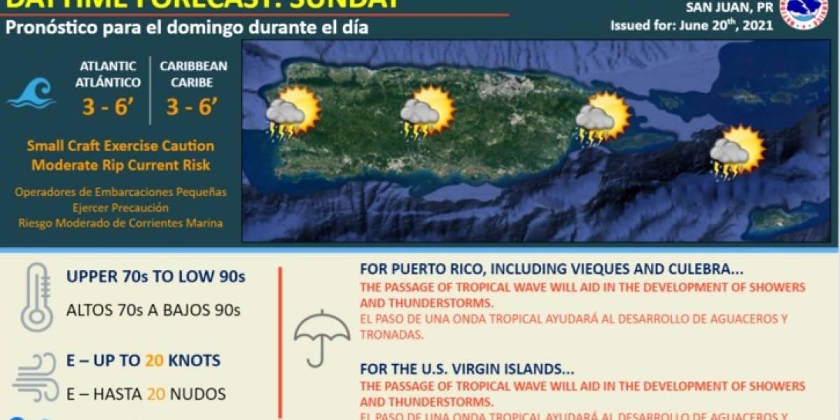 Esperan el paso de una onda tropical para hoy