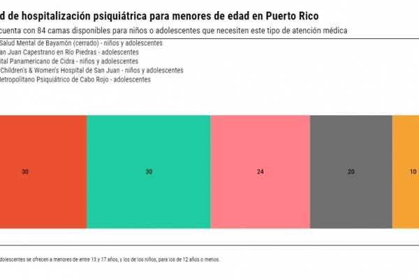 Capacidad de hospitalización psiquiátrica para menores de edad en Puerto Rico