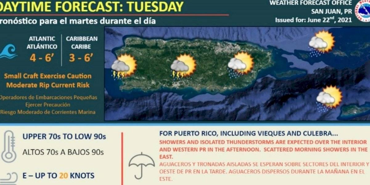 Pronostican otro día lluvioso con tronadas para Puerto Rico