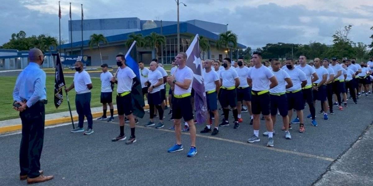 Cadetes realizan carrera simbólica en homenaje a policía asesinado en Ponce