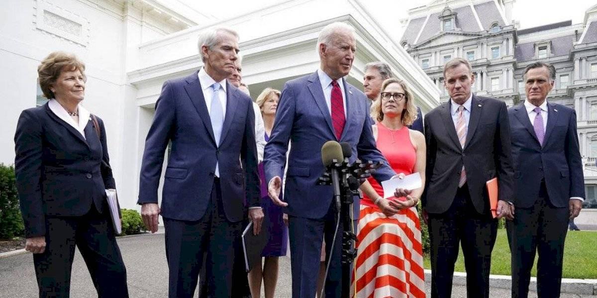 Biden anuncia acuerdo bipartidista sobre plan de infraestructura