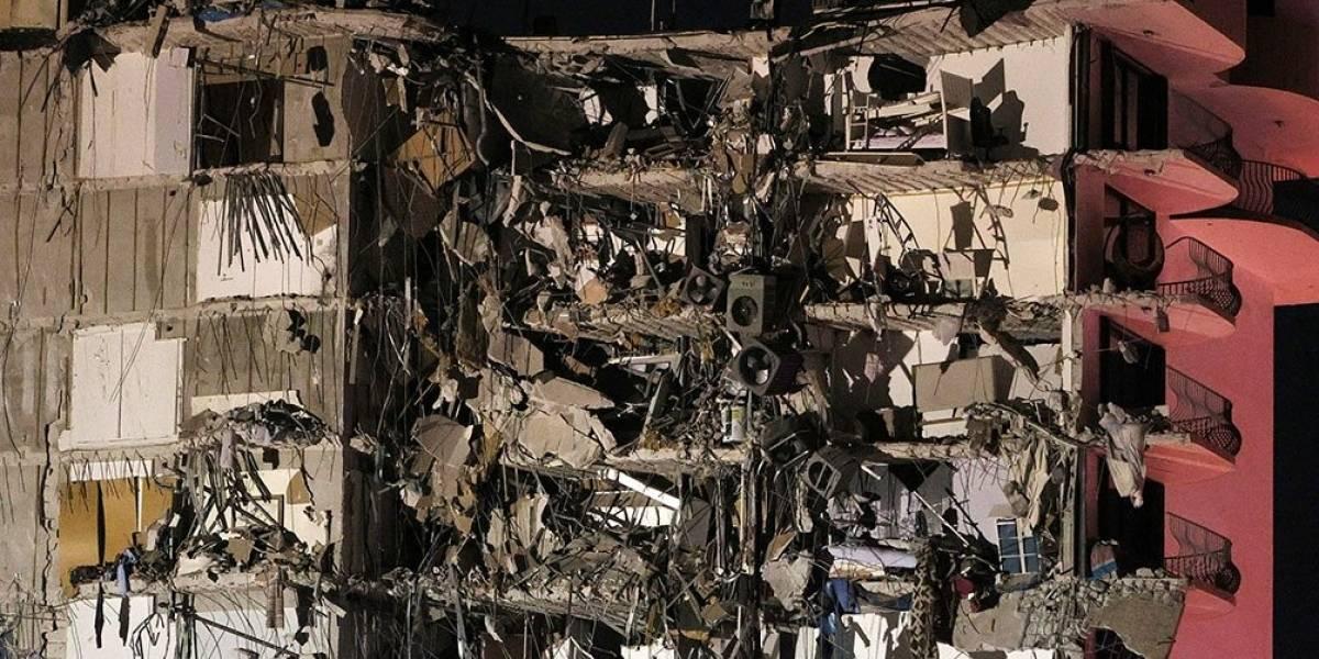 Así fue el momento que rescataron a un adolescente de edificio desplomado en Miami