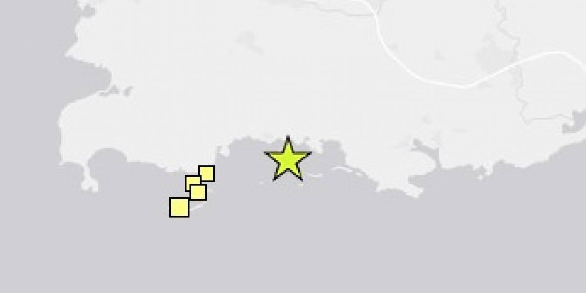 Registran otro temblor de magnitud 3.95 en el sur