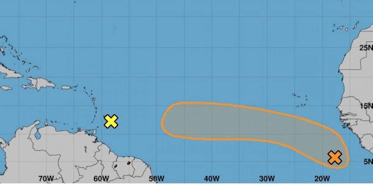 Vigilan dos sistemas tropicales que se dirigen al Caribe