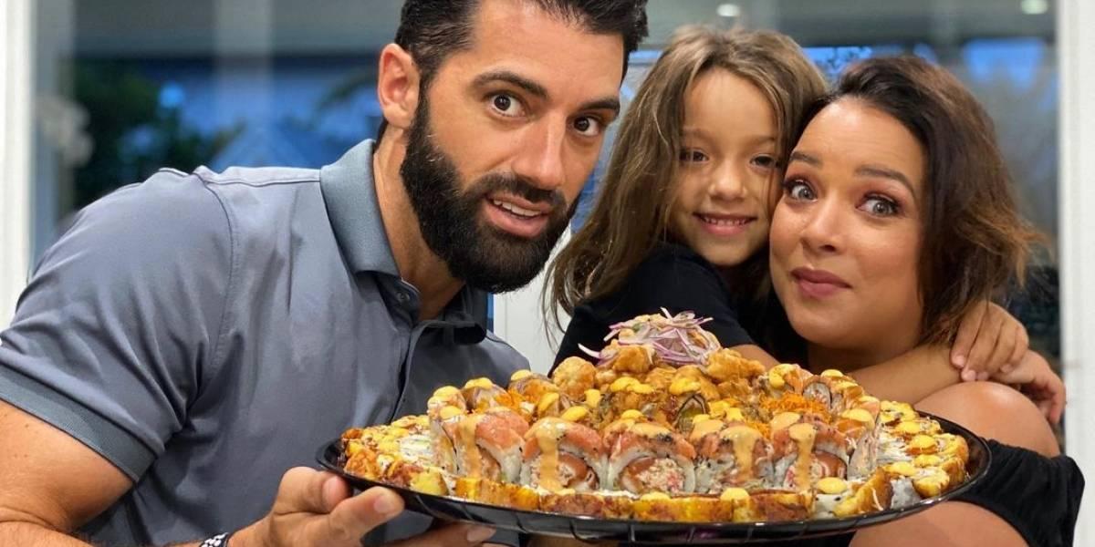 Toni Costa y su hija Alaïa visten iguales en sus vacaciones en España