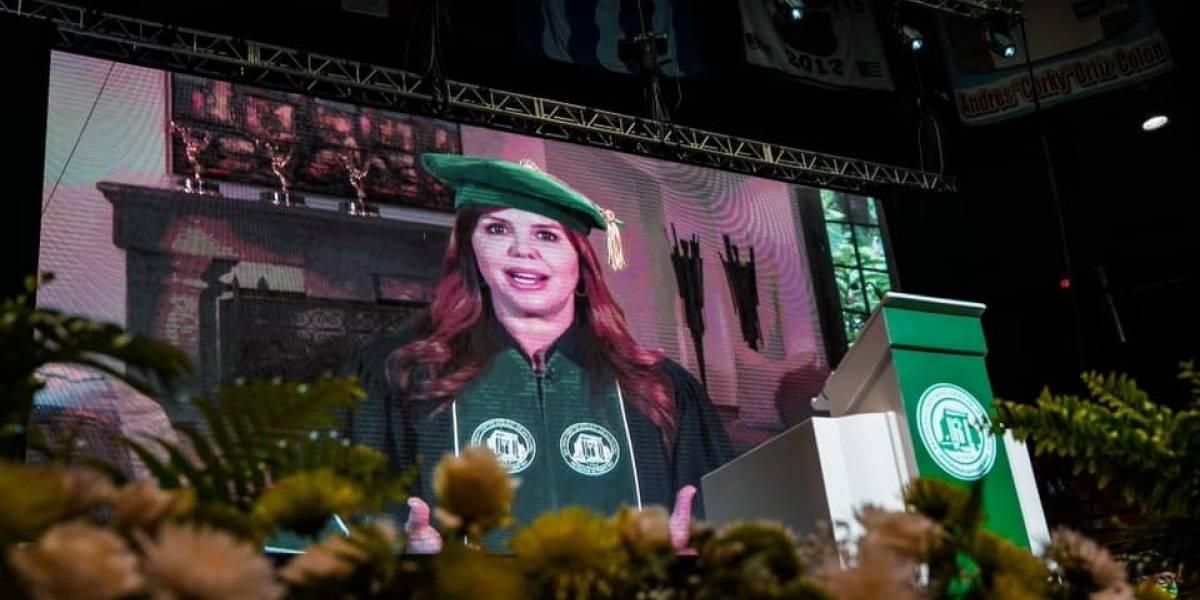 La periodista María Celeste Arrarás participa como la oradora de la graduación del RUM