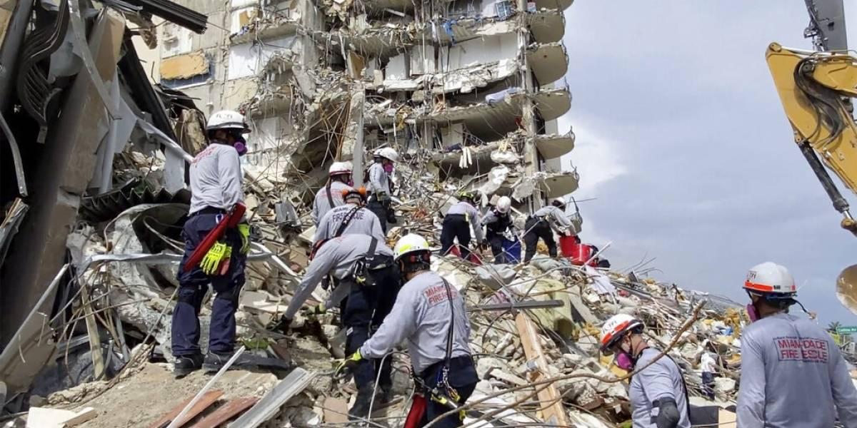 Se complica la búsqueda de 159 desaparecidos en colapso de edificio en Miami