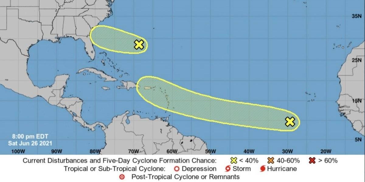 Vigilan disturbio atmosférico con potencial ruta a Puerto Rico