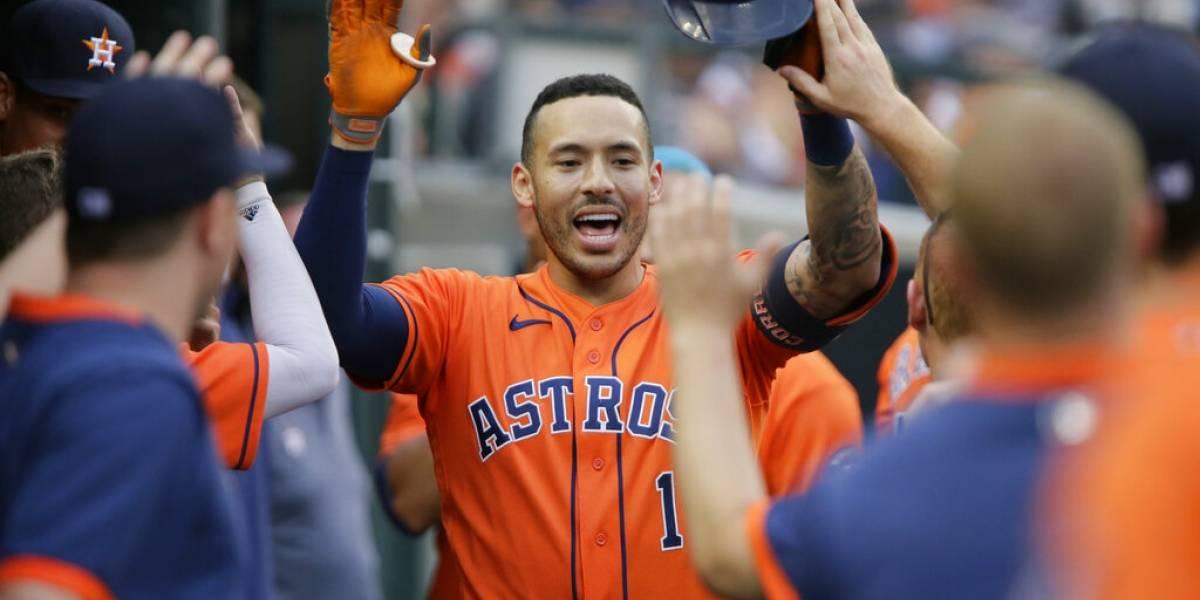 Jonronea Carlos Correa en victoria de los Astros