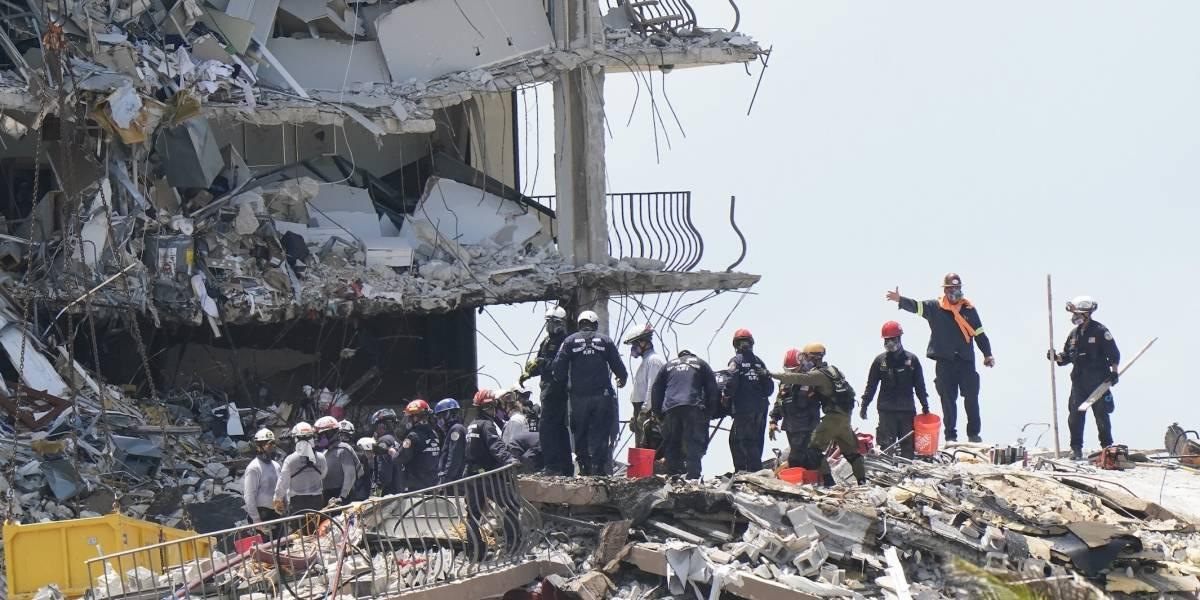 Confirman muerte de puertorriqueños tras derrumbe de edificio en Miami