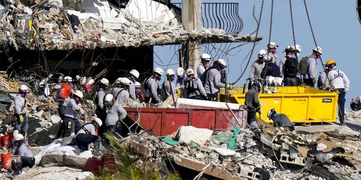 Labores de rescate en derrumbe de Miami llegan a su quinto día
