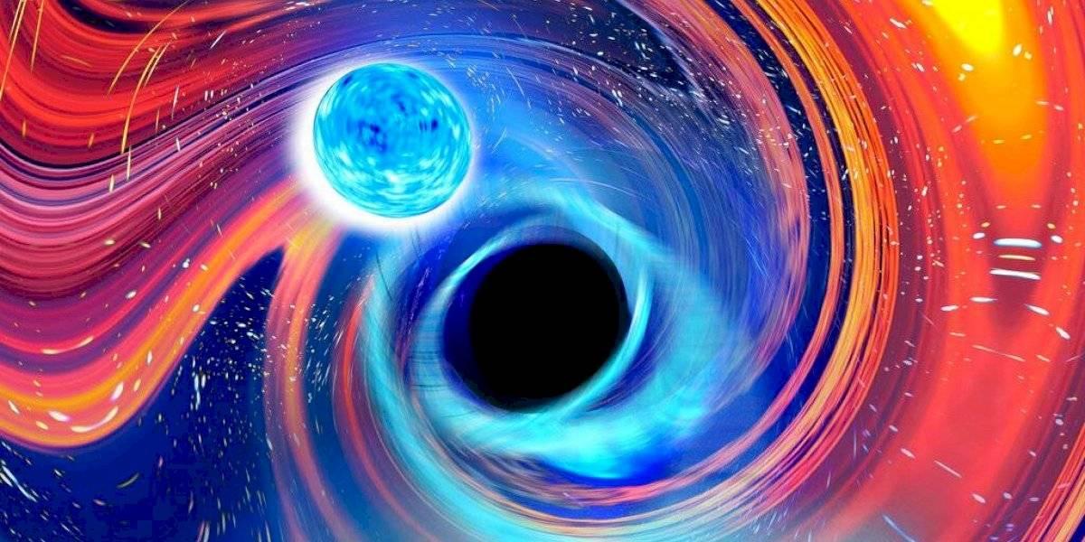 Astrónomos observan a un agujero negro devorar una estrella de neutrones