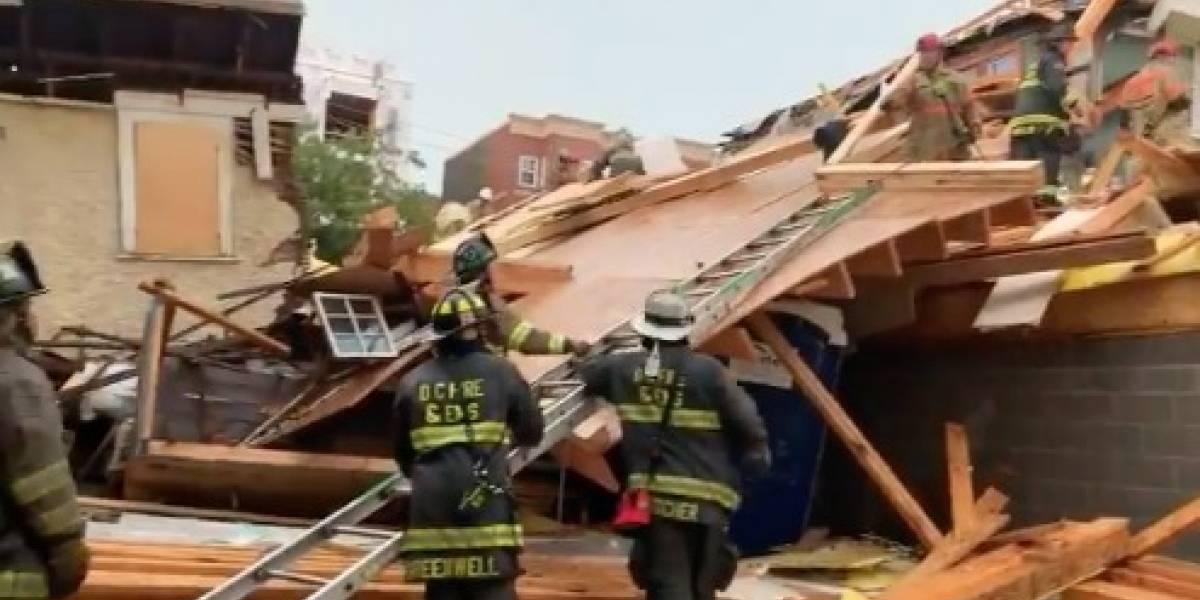 Colapsa edificio en construcción en Washington D.C.