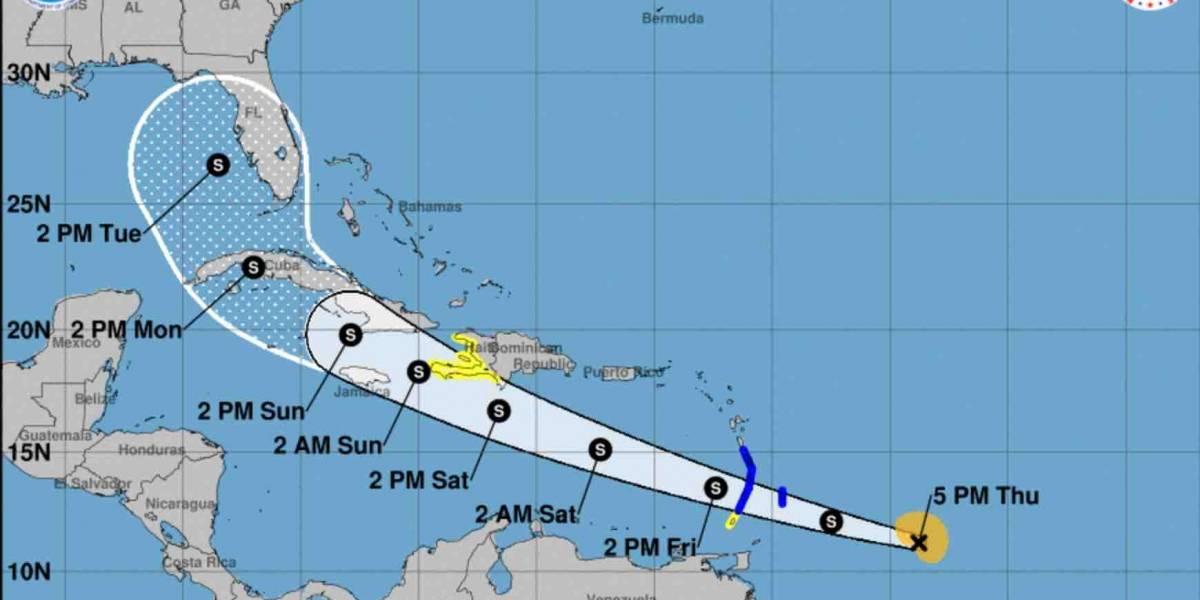 Tormenta Elsa aumenta su velocidad de traslación en ruta hacia el Caribe